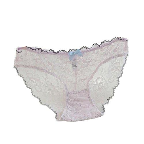 Haodasi 2Pcs Damen Lace Transparent Höschen Atmungsaktiv Unterwäsche Slip Knickers 07#