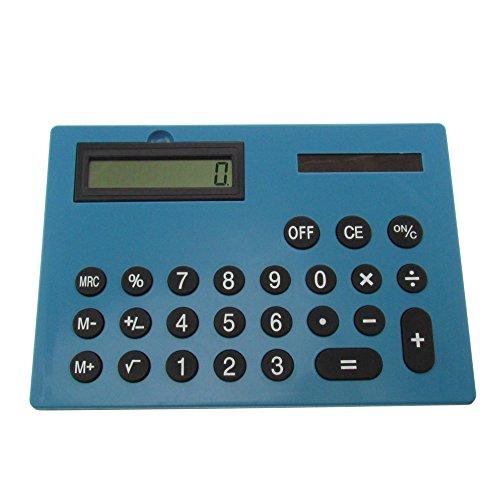 Blauer XXL Taschenrechner 29 cm x 21 cm x 1,3 cm Rechner in Übergröße blau Querformat