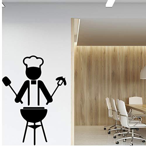 feuerfestes glas zum kochen hllhpc Kochen Wandaufkleber Abnehmbare Tapete Dekoration Köstliche Zubehör Für Wasserdichte Küche Selbstklebende Wandkunst PVC 58 * 58 cm