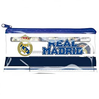 Real Madrid Estuche portatodo con Material Escolar