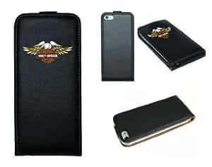 iPhone 4 Etui en cuir design imprime Harley Davidson
