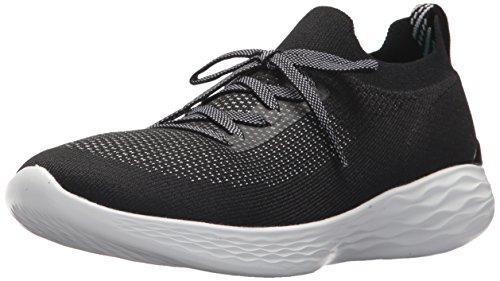 Skechers Damen You - Shine Slip On Sneaker, Schwarz (Black/White), 40 EU - Shine Waschen