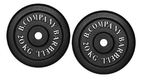 Bad Company I Hantelscheiben aus Gusseisen I Hantel Gewichte I 40 Kg (2 x 20 Kg), 30/31 mm