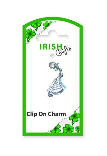 Irish Gifts-Clip con Charm Harp - Charms Irish Harp