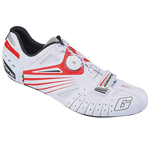 Gaerne Carbon Composite G.Speed Scarpe Road Ciclismo, Red - Bianco, 43