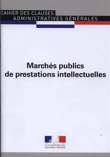 Marches publics de prestations intellectuelles