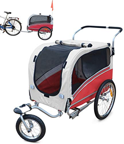 PAPILIOSHOP ARGO Hundeanhänger Fahrradanhänger Anhänger Hundetransporter und Wagen für den Transport von Hunden Hund Tiere Wagen Caddy Anhänger Fahrrad Jogger Hundewagen Kinderwagen