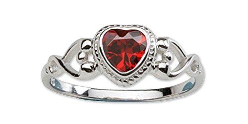 Precious Pieces  -  0,925  Sterling-Silber 925     Oxyde de Zirconium  (Geburtsstein Januar-ring)