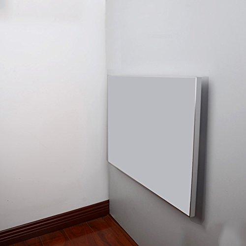 FEI Table pliante murale de feuille de baisse de Tableau, table pliante de cuisine dinant le bord en alliage d'aluminium de bureau (Couleur : Milky, taille : L50CM*W50CM)
