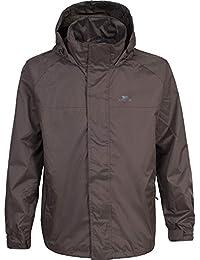 Trespass - Cazadora / Abrigo impermeable con capucha Modelo Nabro para hombre caballero