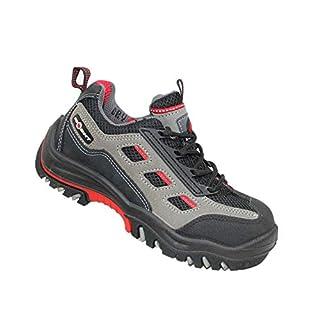 Aimont Lion S1P Safety Shoes Work Shoes Professional Shoes Flat B-Ware, Size:43 EU Black