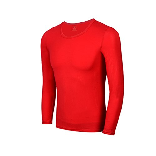 YiLianDa Kompressionsshirt Thermisch Base Layer Modal Thermoshirt Langärmelig Shirt (Thermische Langärmelige)