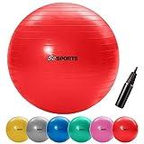 ScSports Gymnastik-/Sitzball, zur Entlastung der Wirbelsäule, als Yogaball geeignet, Ø 65 cm, rot