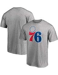 Camiseta NBA Jersey Philadelphia 76ers Joel Embiid Manga Corta Baloncesto Deportes Suelta Bola Impresa Traje