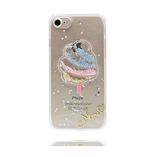 Custodia iPhone 6 Plus, [ silicone trasparente di Slim luce pesa Thin ] cover iPhone 6s Plus Copertura, 3D Gelato Case iPhone 6 Plus /6S Plus 5.5 Dolce # 3