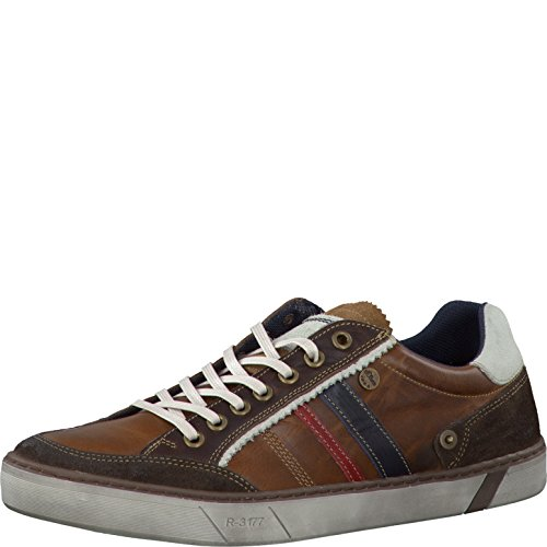 s.Oliver Herrenschuhe 5-5-13612-27 Herren Sneaker, Schnürer, sportliche Schnürschuhe COGNAC COMB