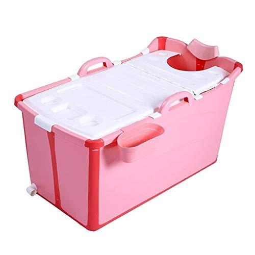 Yxx max Bañera Plegable portátil, bañera Antideslizante de protección Ambiental for bebés y niños, Plato de Ducha multifunción Grande for el hogar (Color : A)
