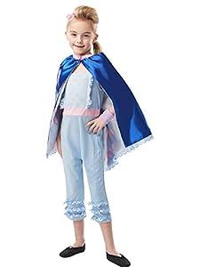 Rubies Disfraz oficial de Disney Toy Story 4, Bo Peep Girls Deluxe, tamaño mediano para niños - Edad 5 - 6 años