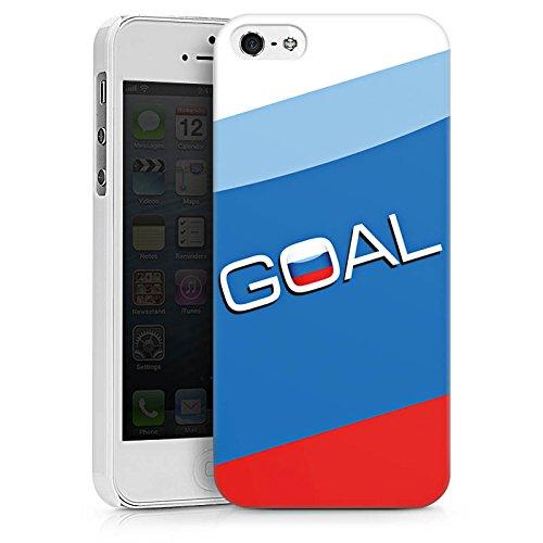 Apple iPhone X Silikon Hülle Case Schutzhülle Russland Tor Fußball Hard Case weiß