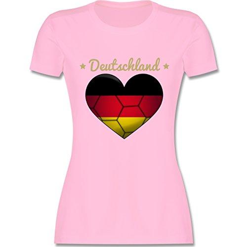 Handball WM 2019 - Handballherz Deutschland - M - Rosa - L191 - Damen Tshirt und Frauen T-Shirt