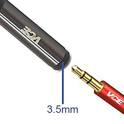 deleyCON 3,0m Jack Cable 3,5mm Cable AUX Cable de Audio Est/éreo Jack Plug Recto para PC Port/átil Tel/éfono Celular Smartphone Tablet Car HiFi Receptor Negro