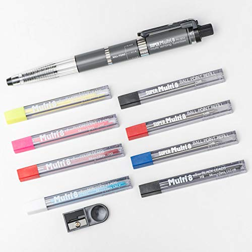 Pentel PH803ST Super Multi-8 Automatic Mechanical Pencil Set