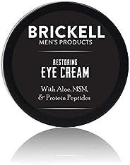 Brickell Men's Restoring Eye Cream for Men, Natural and Organic Anti Aging Eye Balm To Reduce Puffiness, Wrinkles, Dark Circ