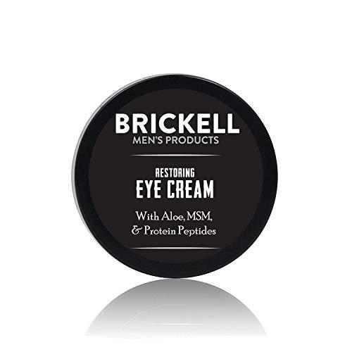 Brickell Men's Restaurierender Anti-Aging Augenbalsam für Männer, Natürlich und Organisch, Reduziert Schwellungen, Fältchen, Dunkle Augenringe und Tränensäcke - .5 oz