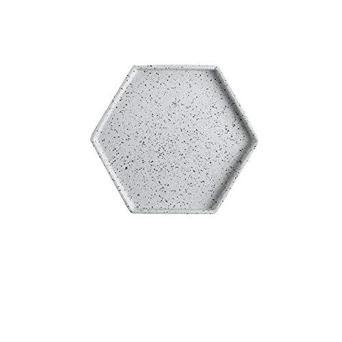 Europäischen Stil Nachahmung Granit Keramikplatte Marmor Muster Tablett kreative Stein Geschirr Ablageschale Hotel Ablageschale grau 10,5 Zoll - Pappteller Und Gelb Grau