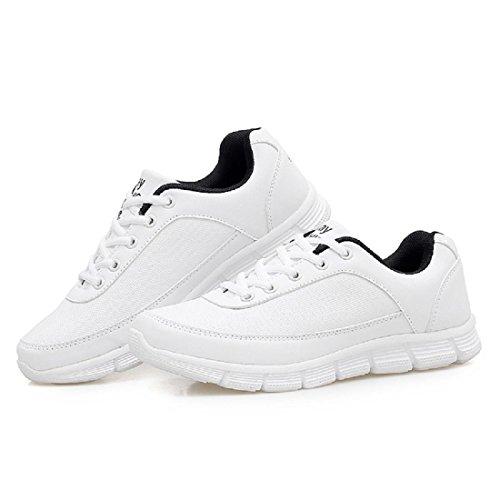 Herren Sportschuhe Mode Park draussen Turnschuhe Flache Schuhe Laufschuhe White