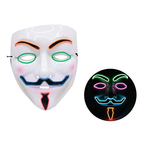 Meetforyou Halloween ätherische Maske, LED beleuchtet lustige Maske klar Wahljahr großes Festival Cosplay Kostüm liefert Partei Halloween-Maske