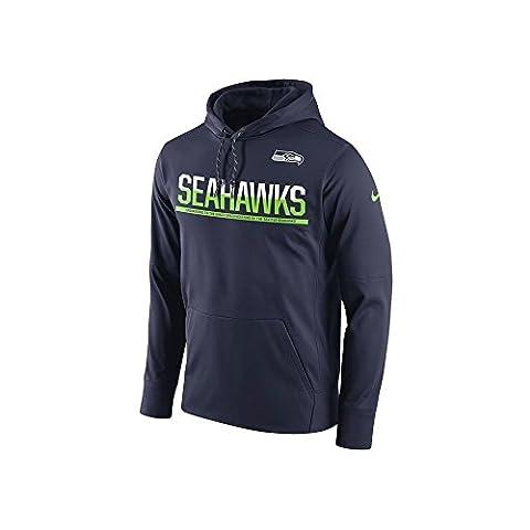 Nike SEA CIRCUIT PO HOODIE - Sweatshirt - Seattle Seahawks line for Men, Size XL, Colour Blue