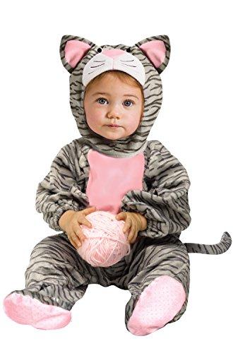 (WMU - Kätzchen Kostüm grau gestreift für Kleinkinder 12 Monate - 24 Monate)