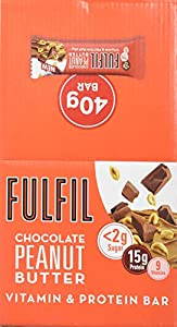 Fulfil Chocolate Peanut Butter Vitamin & Protein Bar 40g, Pack of 15 from Fulfil