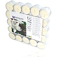 Smart Planet® Kerzen Ambiente Vanilleduft - 50er Packung Teelichter - Teelicht 50 Stück mit Vanille Geruch Weihnachten