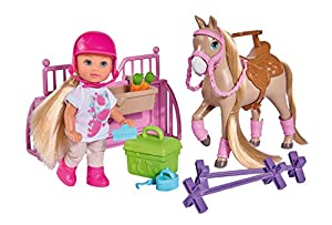 Simba - Evi Holiday muñeca Flexible con Caballo y Scuderia, Color, 105733274038