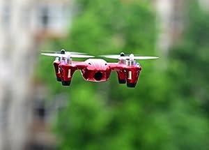 HUBSAN H107C dron con cámara Rojo, Blanco 4 rotores - Drones con cámara (4 rotores, Rojo, Blanco)