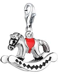 Nena Lina Charm caballo balancín Colgante en{925} plata de ley para todos los para colgantes con placa 714073-001