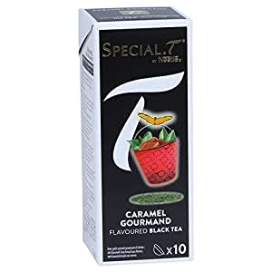 Special T - Caramel Goumand - 10 Capsules noir parfumé - 100% origine Nestlé - pour Special.T machine - a the / thé / tea