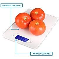 Báscula digital de cocina barata con Bluetooth para Smartphone, con aplicación para control de calorías