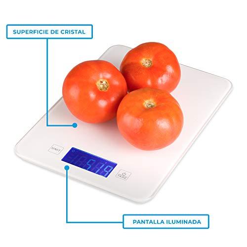 La Báscula de Cocina Digital de Precisión proporciona la información y los valores nutricionales de los alimentos: grasa, hidratos de carbono, colesterol, fibra, azúcar, proteína, calorías, calcio, potasio, etc. Especificaciones: Colores: Negro/Blanc...