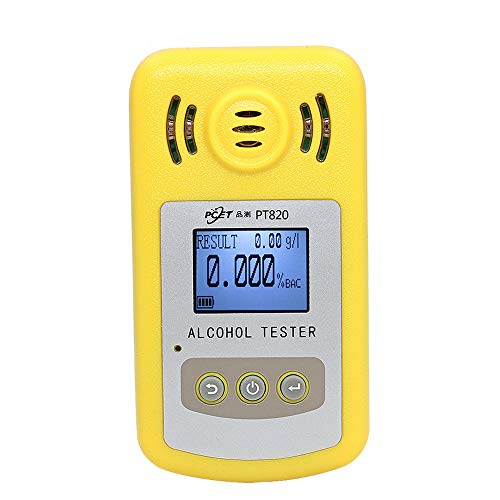 WANGXB Alcoholimetro Profesional,Probador de Alcohol,Sonido y luz Aviso de Alarma escalonada Doble,Precisa...
