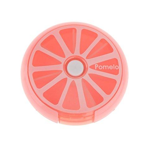 Dreh Pill-Box Tablettendose Pillenbox Tablettenbox Mini Medizin Süßigkeitsgummireise Lagerung Fall Nett Cyan - Rosa