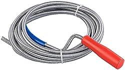 AGT Rohrreinigungsspirale: Rohrreinigungs-Spirale für Waschbecken, Dusch- & Badewanne, 5m, Ø 9mm (Rohrspirale)