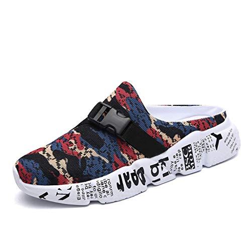 Ears Lässige Sandalen Männer Mesh Camouflage Slippers Leichte Walking Beach Schuh Sport Sandalen Tuch Schuhe Flache Fußschuhe wasserabweisend Einzelne Schuhe Bequem Outdoor Schuhe -