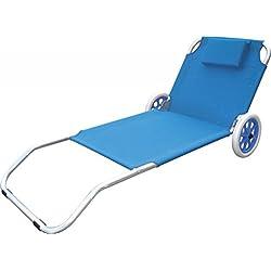 VERDELOOK Spiaggina Trolley, color Azul