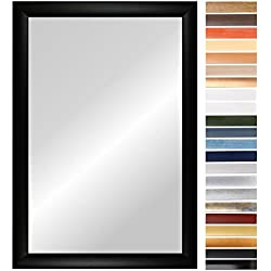 OLIMP 60 x 137 cm Spiegel nach Maß mit Rahmen, Rahmen Farbe: Silber Matt, handgefertigter Wunschmaß Spiegelrahmen inkl. Spiegel und stabiler Rückwand, Rahmenleiste: 35 mm breit und 18 mm hoch, Spiegel Rahmen Außenmaß: 600 mm x 1370 mm