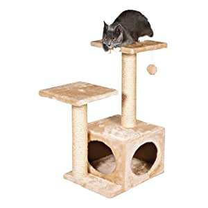 BUNNY BUSINESS Luxury Cat Tree Scratching Post, Beige