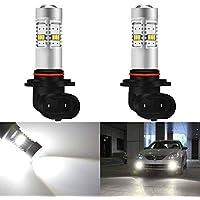 KaTur 2pcs 1800LM H10 / 9145/9140 Brouillard Drving Light DRL lumière de Brouillard LED Voiture Conduite lumière Fit pour Day Light Running ou Blanc de Remplacement des antibrouillards