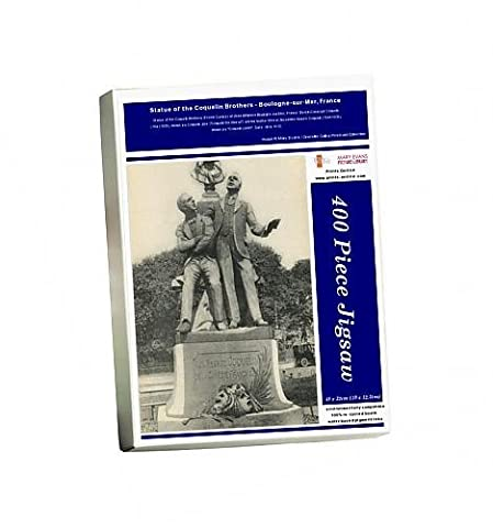 Photo Jigsaw Puzzle of Statue of the Coquelin Brothers - Boulogne-sur-Mer, France